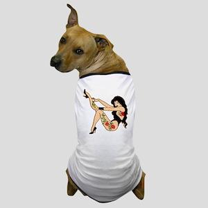 Sexy Tattoo PinUp Girl Dog T-Shirt