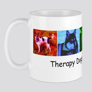 Therapy Dogs Work for Hugs! Mug