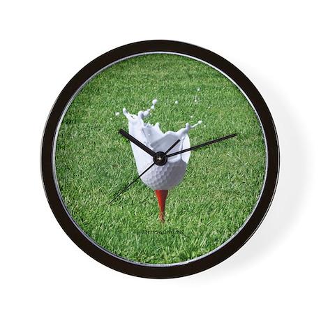Liquid Golf Wall Clock By Brickwallsports
