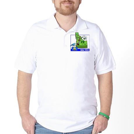 Idaho Map Golf Shirt