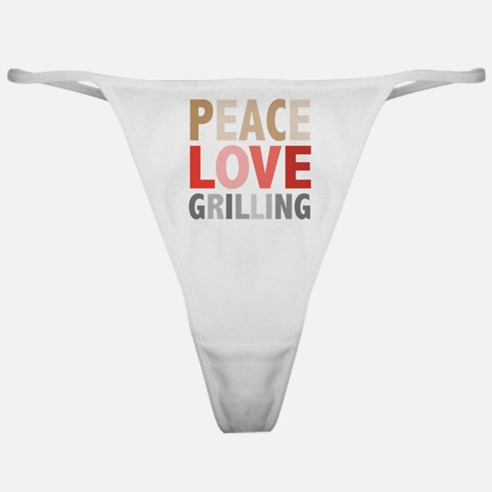 Peace Love Grilling Classic Thong
