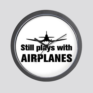 Still plays with Airplanes-Co Wall Clock