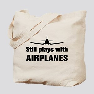 Still plays with Airplanes-Co Tote Bag