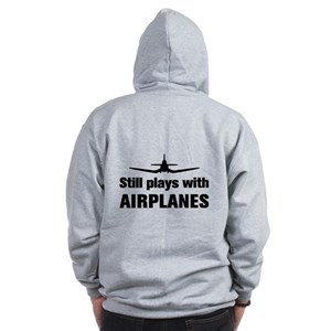 Still plays with Airplanes-Co Zip Hoodie