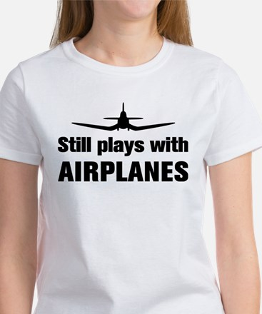Still plays with Airplanes-Co Women's T-Shirt
