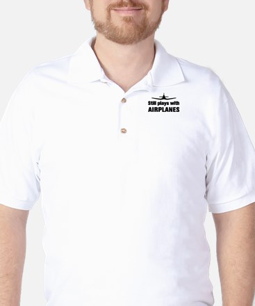 Still plays with Airplanes-Co Golf Shirt