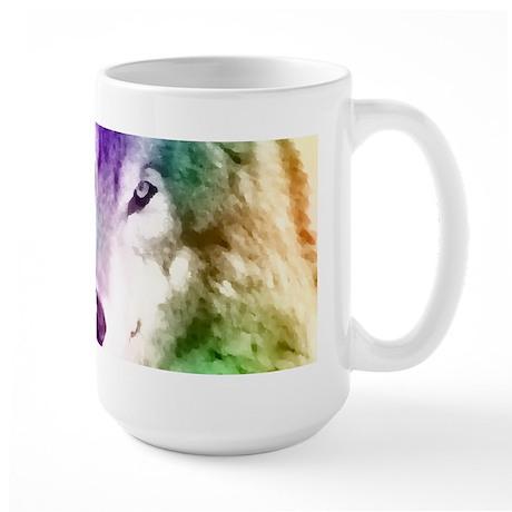 Wolf Gaze Art Large Mug