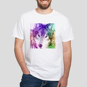 Wolf Gaze Art White T-Shirt