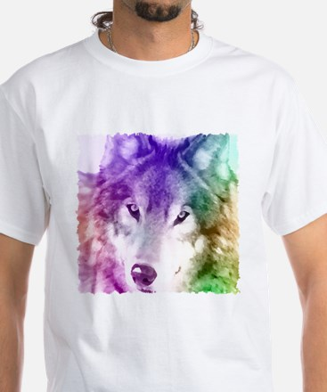 Wolf Gaze Art White T-Shirt
