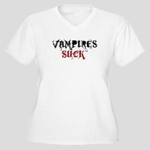 Vampires Suck Women's Plus Size V-Neck T-Shirt