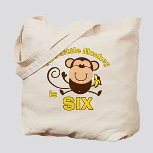 Little Monkey 6th Birthday Boy Tote Bag