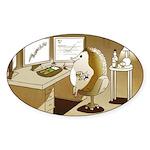 The Hedging Hog Oval Sticker