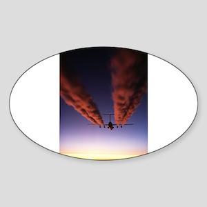 Bloodsmoke Oval Sticker