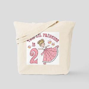 Pretty Princess 2nd Birthday Tote Bag