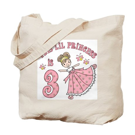 Pretty Princess 3rd Birthday Tote Bag