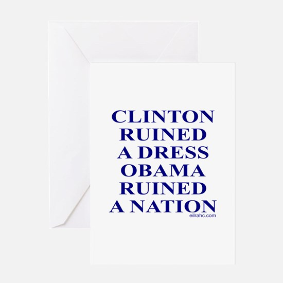 Ruined A Nation Greeting Card