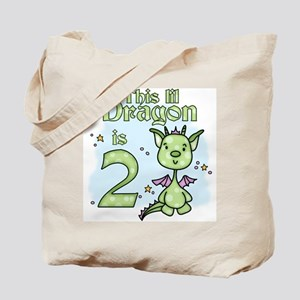 Lil Dragon 2nd Birthday Tote Bag
