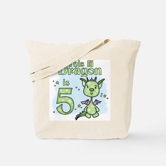 Lil Dragon 5th Birthday Tote Bag
