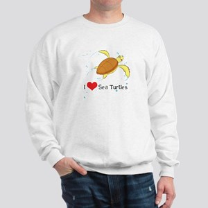 I Love Sea Turtles Sweatshirt