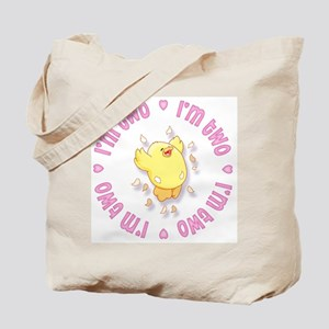 Happy Chick 2nd Birthday Pink Tote Bag
