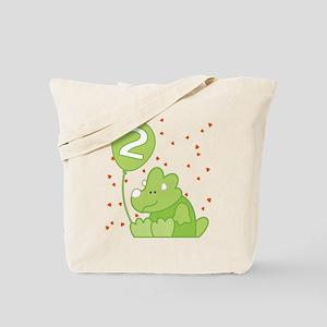 Baby Dino 2nd Birthday Tote Bag