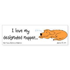 I Love My Designated (Dog) Napper Bumper Bumper Sticker