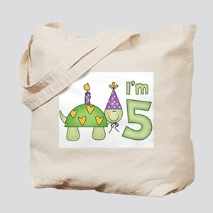 Little Turtle 5th Birthday Tote Bag