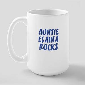 AUNTIE ELAINA ROCKS Large Mug