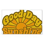 Good Day Sunshine Rectangle Sticker 10 pk)