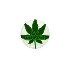 Go Green Mini Button (10 pack)
