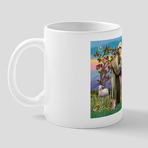 St Francis / Keeshond (#2) Mug