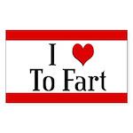 I Heart To Fart Rectangle Sticker 50 pk)