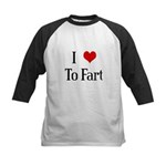 I Heart To Fart Kids Baseball Jersey