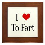 I Heart To Fart Framed Tile