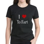I Heart To Fart Women's Dark T-Shirt