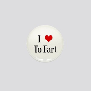 I Heart To Fart Mini Button
