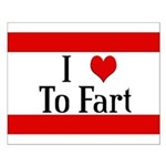 I Heart To Fart Small Poster