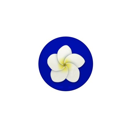 Plumeria Mini Button