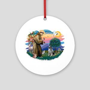 The Saint / Keeshond (#2) Ornament (Round)