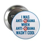 """I was Anti Obama 2.25"""" Button (100 pack)"""