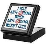 I was Anti Obama Keepsake Box