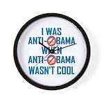 I was Anti Obama Wall Clock
