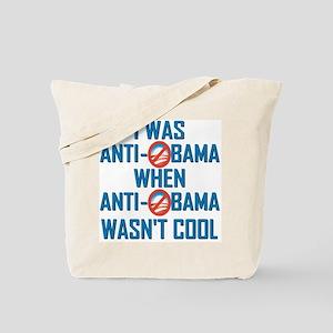 I was Anti Obama Tote Bag