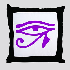 Purple Eye Throw Pillow