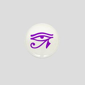 Purple Eye Mini Button
