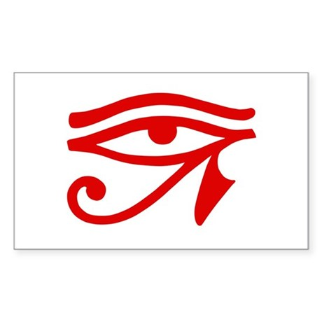 Red Eye Rectangle Sticker