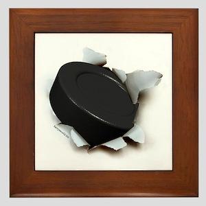 Hockey Burster Framed Tile