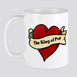 King of Pop Heart Tattoo Mug