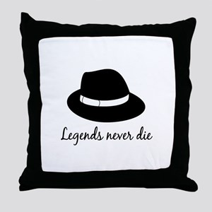 Legends Never Die Throw Pillow