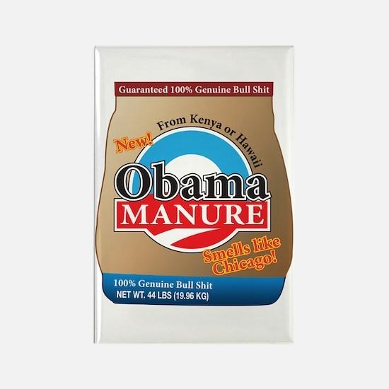 Obama Manure Rectangle Magnet